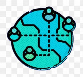 Turquoise Social Media Icon - Globe Icon Network Icon Social Media Icon PNG