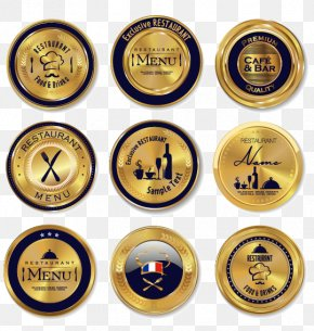 Gold Vip Badge Template Download - Restaurant Stock Illustration Icon PNG
