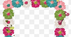 Flower - Borders And Frames Scrapbooking Picture Frames Flower Clip Art PNG
