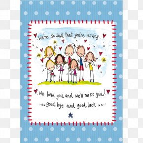 I Will Miss You - Jucy Lucy Greeting & Note Cards Juicy Lucy Designs Ltd Happiness Wish PNG