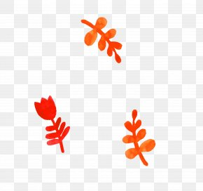 Red Simple Flowers Grass Decoration Pattern - Red Flower Clip Art PNG