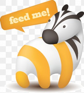 Zebra Cute Animal Theme Subscribe To Rss Icon Vector Material