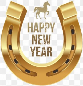 Happy New Year - Horse New Year's Day Wish Clip Art PNG