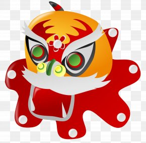 Chinese New Year Transparent Background - Chinese New Year Lion Dance Clip Art PNG