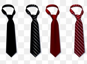 Stripe Tie - Necktie Black Tie Bow Tie Suit PNG