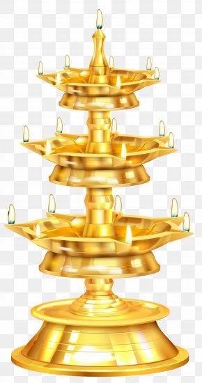 Happy Diwali Candlestick Free Clip Art Image - Diwali Clip Art PNG