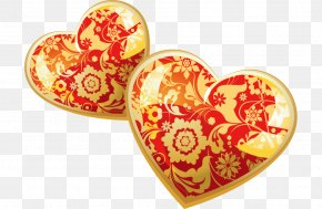 Gold Heart-shaped Pattern Vector - Euclidean Vector Heart Shape PNG