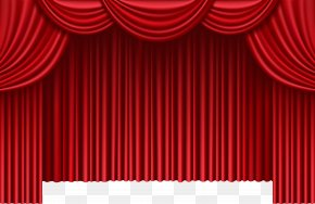Red Curtains - Theater Drapes And Stage Curtains Window Clip Art PNG