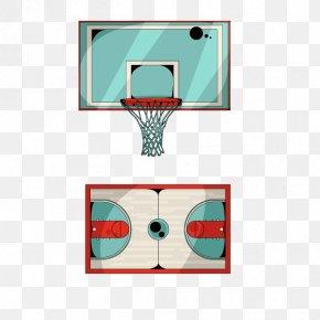 Vector Basketball Box - Basketball Court Backboard Sport PNG