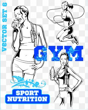 Skipping Drinking Women - Fitness Centre Euclidean Vector Photography Illustration PNG