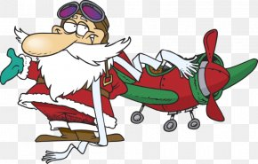 Santa Claus - Santa Claus Airplane Flight Clip Art PNG