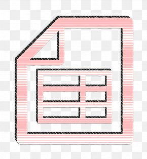 Rectangle Table Icon - Document Icon Excel File Icon File Icon PNG