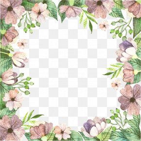 Vector Floral Border - Floral Design Flower Pattern PNG