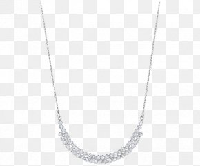 Swarovski Jewellery Women's Sapphire Necklace - Necklace White Symmetry Pattern PNG