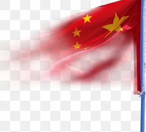 National Flags Are Decorated On National Day - National Day Of The People's Republic Of China Mid-Autumn Festival PNG