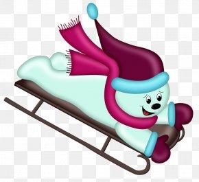 Snow - Snowman Image Sledding Christmas Day PNG