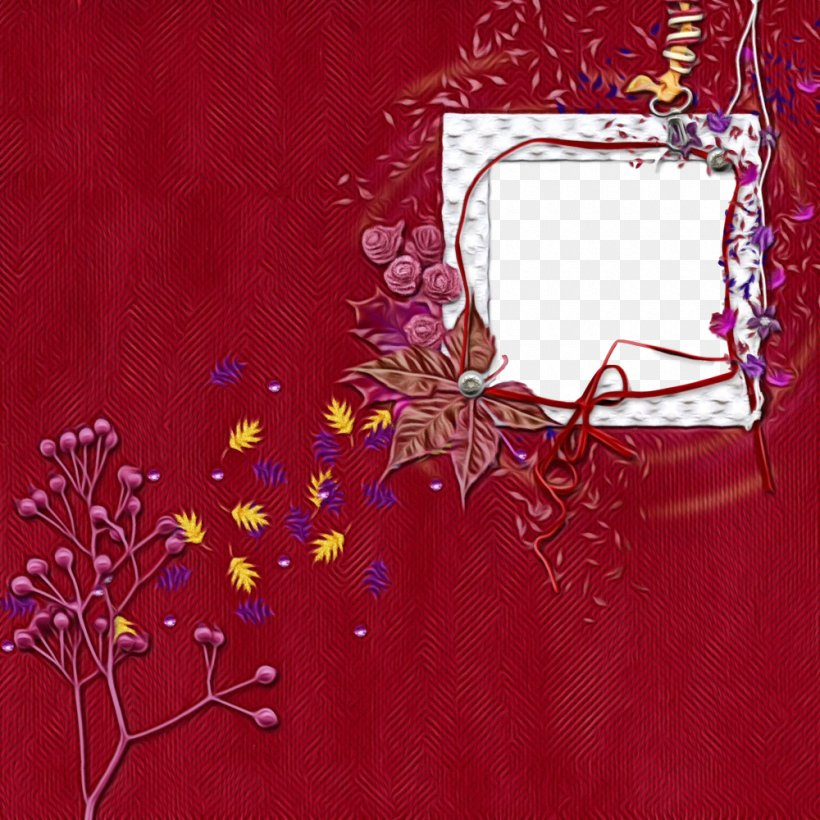 Picture Frame, PNG, 1000x1000px, Watercolor, Branch, Floral Design, Flower, Magenta Download Free