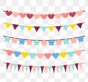 Festival Flags - Vector Graphics Image Design Download PNG