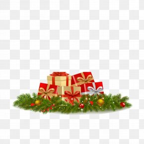 Gift - Santa Claus Christmas New Year Illustration PNG