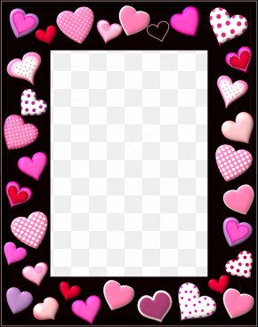 Frame - Valentine's Day SMS Heart Gift Clip Art PNG