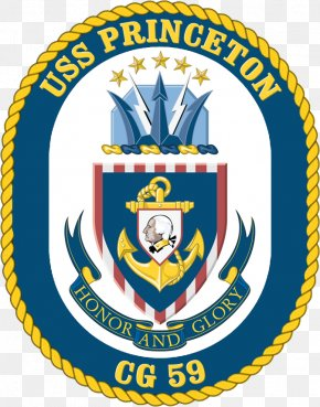 Crest - USS Princeton (CG-59) United States Navy Ticonderoga-class Cruiser Warship PNG