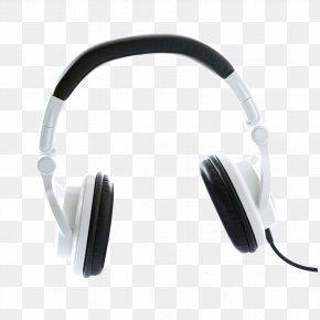 Creative Black And White Headphones - Headphones Black And White Monochrome PNG