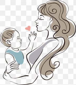 Mother And Baby - Mother Drawing Infant Child PNG