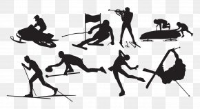 Winter Sports Silhouette - Winter Olympic Games Silhouette Winter Sport Skiing PNG