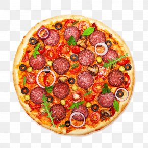 Pizza - Pizza Italian Cuisine Salami Pepperoni Food PNG