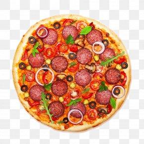 Pizza - Pizza Italian Cuisine Salami Pepperoni Food PNG