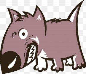 Dog Cartoon - Pit Bull Bulldog Growling Cat Clip Art PNG