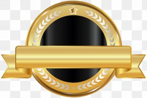 Seal Badge Gold Black Clip Art - Information Image Resolution Clip Art PNG