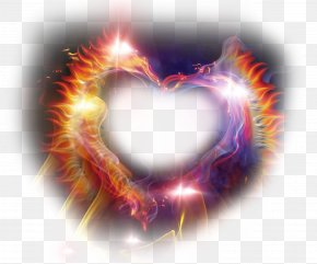 Heart-shaped Luminous Flame Ring Of Fire - Luminous Flame Ring Of Fire Combustion PNG