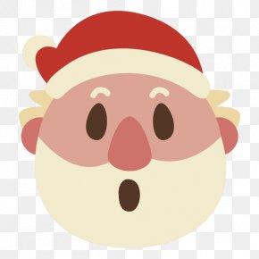 Santa Claus - Santa Claus Christmas Emoticon Smile Clip Art PNG