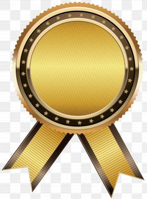 Gold Seal Free Clip Art Image - Product Circle Brown Font PNG