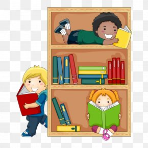 Student - Public Library Child Reading Clip Art PNG