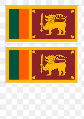 Dachshund And Flag - Flag Of Sri Lanka National Flag Palk Strait PNG