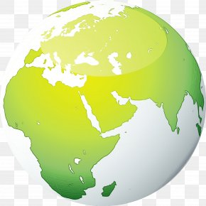 Interior Design Map - Green Globe World Earth Planet PNG