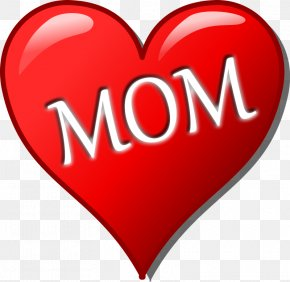 Word Mom Cliparts - Mothers Day Heart Child Clip Art PNG
