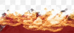 Creative Fire Clouds Sunset Clouds Background - Cloud Sunset Afterglow Fire PNG