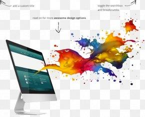Apple Color Splash - Website Advertising E-commerce Web Banner Graphic Design PNG