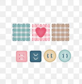 Small Fresh Handkerchief And Buttons Creative - Sewing Machine PNG