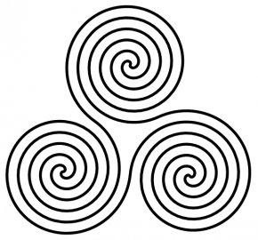 Triple Cliparts - Triskelion Spiral Symbol Clip Art PNG