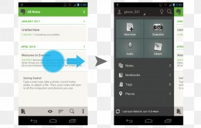 Fragments - Android User Interface Design Evernote Samsung Galaxy PNG