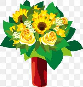 Vector Yellow Bouquet - Common Sunflower Euclidean Vector Yellow PNG