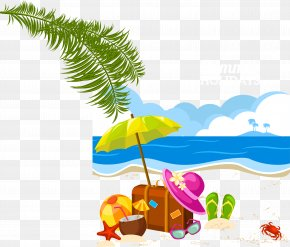 Vector Beach - Holiday Summer Vacation Clip Art PNG