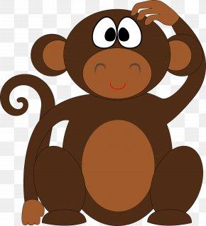 Chimpanzee - Ape Chimpanzee Monkey Cartoon PNG