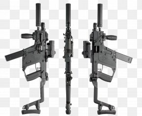 Machine Gun With Silencer - KRISS Vector Submachine Gun Firearm Weapon 9xd719mm Parabellum PNG