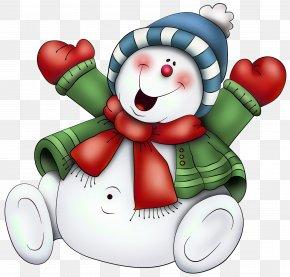 Fun Background Cliparts - Santa Claus Candy Cane Christmas Snowman Clip Art PNG