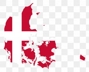 Flag - Flag Of Denmark National Flag Map PNG
